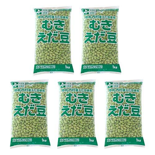 【まとめ買い】冷凍野菜 むきえだ豆 モリタン 1kg×5