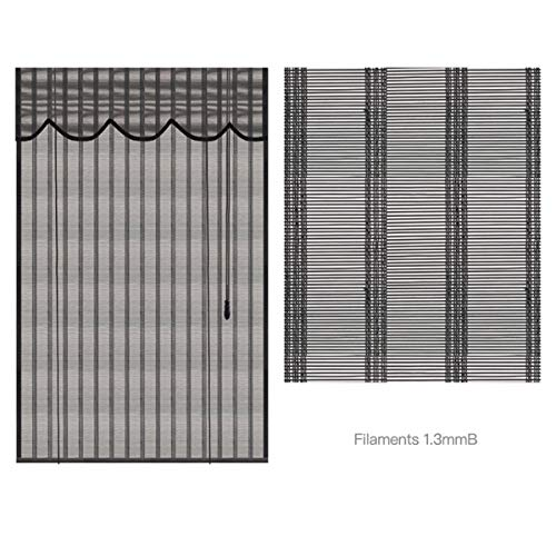 Roller blind Lxn Persianas enrollables de bambú Negro, persiana para