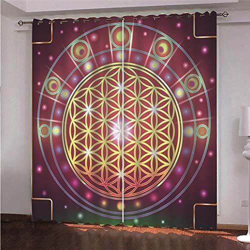 DOORWD Cortina Opacas Dormitorio Moderno con Aislamiento Térmico Guir