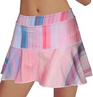 Rainbow Tree Women's Athletic Pleated Tennis Golf Skirt with Shorts Running Skort