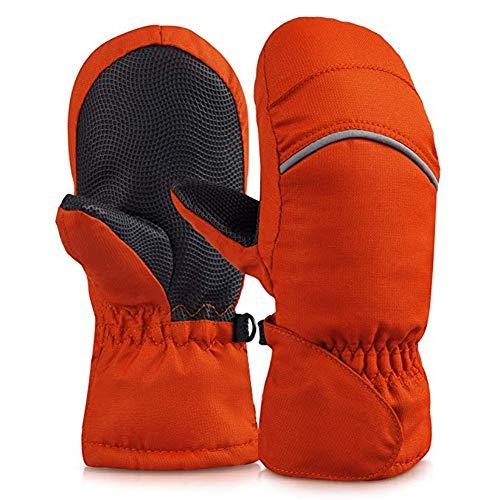YASSUN Unisex Adult Waterproof Winter Snow Mittens, Sports Warmer Mitten Gloves for Kids, Babies, in Ski, Skateboard, Snowman, Breathable, Ripstop Fabric Mittens(5-6years), Medium