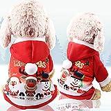 Abcsea Ropa para Mascotas Perros Navidad, Traje De Perro Navidad, Navidad Ropa para Mascotas, Disfraces para Mascotas, Traje De Navidad Perro, Disfraz para Perro Navidad, Rojo, S