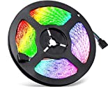 Sunnest Ruban LED 5m 3528 RGB Etanche IP65 Multicolore 300 LED Télécommande Infrarouge 24 Touches/Adapteur/Alimentation 2A 12V