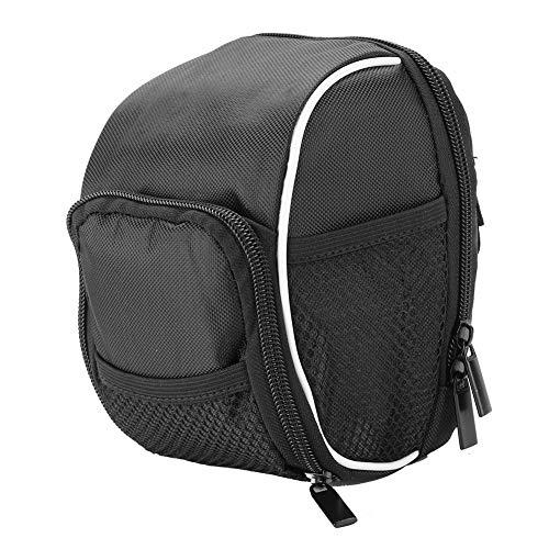 Bike Front Bag - Front Frame Tube Stuurzak zak Multi-functie Quick Release Universeel voor Fiets Fietsen (zwart)