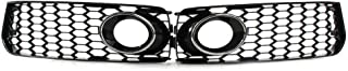 Ancher Black Fog Light Grilles w/Chrome Trim Ring fit for 08-12 Audi A5/S5 B8 S-Line RS5 Style 2008 2009 2010 2011 2012 Notice: for S-Line Bumpers Only!! Not for Standard Bumpers!!