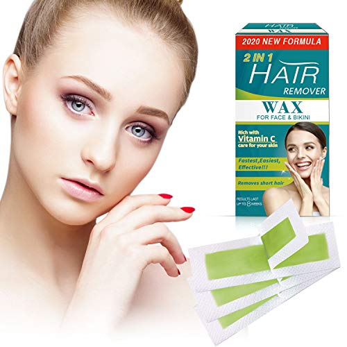 TOPNaturePlus 72 Facial Wax Strips, Facial Hair Removal For Women - At Home Waxing Kit