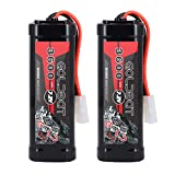 GOLDBAT RC Battery 3600mAh 7.2 V NiMH Battery with Tomi Ya-Plug for RC Car RC Boat RC Truck Traxxas LOSI-associated Quadcopter Drone HPI Kyosho Hobby 2Packs