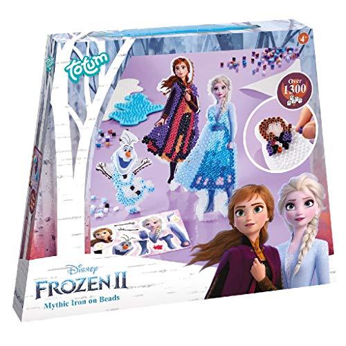 Disney Frozen II Bastelset Bügelperlen: Gestalte mit über 1300 bunten Bügelperlen auf 2 Steckplatten Bügelperlenbilder von Anna & Elsa und Olaf