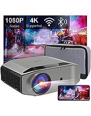 "Beamer Full HD WiFi Bluetooth, Artlii Energon2 Native 1080P Projector, 4K Ondersteund, 2.4G / 5.0G WiFi, Max 300"" Scherm, Home Cinema Video Projector Compatibel met iOS, Android, TV Stick, PS4, X-Box, Laptop, Smartphone"