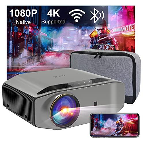 Proiettore Wifi Bluetooth Videoproiettore Artlii Energen2 Proiettore Full HD 1080P Nativo Supporta 4K 340 ANSI Proiettore Per Smartphone Home Theater per iOS, Android, PPT, PS4,5