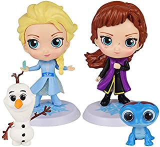 Frozen cake topper Action Figure Set 4Pcs Frozen cake decorations and Party Favors for Frozen party supplier birthday