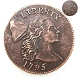 FKaiYin 1795 Antike Liberty One Cent Replik Old Coin American Lucky Old Coin - US Old Coins - Unzirulated Hobo Nickel USA Morgan Dollar Coin Future Experience -
