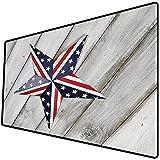 Alfombrilla de ratón (800x400x3 mm) Decoración del 4 de Julio, Bandera del día de la Independencia con Imagen de país del Desfile nac Superficie Suave y cómoda de la Alfombrilla de ratón para Juegos