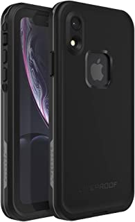 Lifeproof FRĒ SERIES Waterproof Case for iPhone XR - Retail Packaging - ASPHALT (BLACK/DARK GREY)