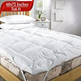 Linenwalas Microfiber Mattress Padding/Topper for 5 Star Hotel Feel - White - 60' X 72' *with Free...