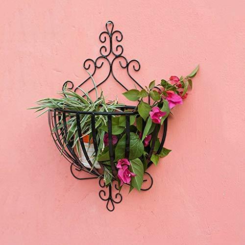 ZXL Plant Bloemmand Opknoping bloem mand gemaakt van smeedijzer voor opknoping sneakers Opknoping mand met bloempotten Opknoping balkon Bloemhouder Bloemhouder Outdoor bloem stand (