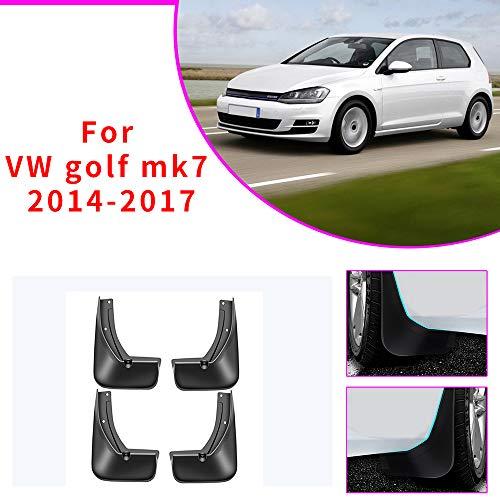 Cobear Auto Schmutzfänger Kotflügel passt für V OLKSWAGEN VW Golf 7 MK7 2014-2017 Vorne Hinten Gummi-Spritzschutz Car Styling & Karosserie-Anbauteile Schwarz 4 Stück