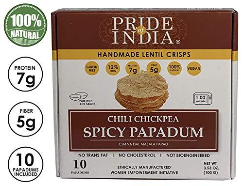 Fierté de l'Inde - poivrons épicés Papadum Masala Lentil Crisp, 10 count (7 oz - 200gm)