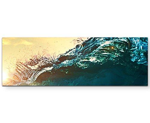 Paul Sinus Art Leinwandbilder | Bilder Leinwand 120x40cm wunderschöne brechende Welle