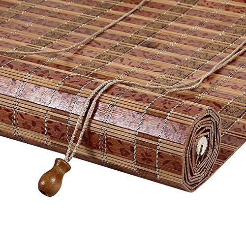 Stores En Bambou, Stores Opaques Avec Crochets, Balcon Extérieur pour Terrasse Sur Porche, 50cm / 60cm / 70cm / 80cm / 100cm De Large, Taille Personnalisée (Size : 110x220cm)