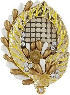 Anuradha Art Jewellery Golden Colour Wonderful Designer Trendy Saree Pin For Women/Girls