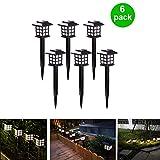 Outdoor Figurine Lights 6 Pack Solar Pathway Lights...