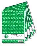 SIGEL KA518 Kassenbericht / Bestandsrechnung, A5, 5 Stück á 50 Blatt