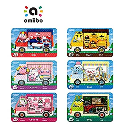 6PCS Amiibo Rare RV Villager Furniture NFC Cards for Animal Crossing New Horizons,Collaboration Pack Sanrio Mini Card , Compatible with Nintendo Switch//Wii U/Lite/New 3DS by Cggood