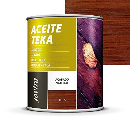 ACEITE TEKA MUEBLES jardín, sillas, mesas, tumbonas, Protección, restauración y cuidado de la madera Teca en intemperie exterior (750ML, TEKA)