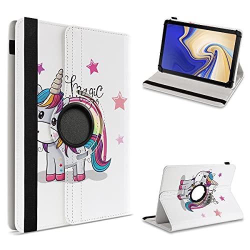 UC-Express Tablet Tasche kompatibel für Samsung Galaxy Tab S4 10.5 Hülle Schutzhülle Case Universal Cover Drehbar, Farben:Motiv 16