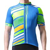 Camisetas de ciclismo para hombre, camiseta de ciclismo anti-UV, transpirable, secado rápido, ropa de bicicleta de montaña, para adelgazar la parte superior de MTB (tamaño: 3XL; color: azul)