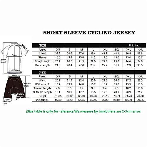 logas Männer Fahrrad-Club Cycling Team Bekleidung Jersey Shirts Kurze Hosen Set Sportbekleidung - 2