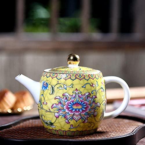 Auténtico Jingdezhen Porcelana Art Bird Tetera Exquisite Esmalte Color Tetera Hecho A Mano Cerámica TEA DE TEA DE TEA 280ML-280ml