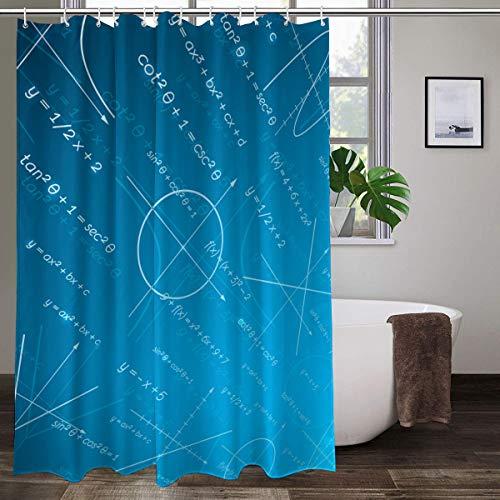 XCBN Rideau de Douche Impression géométrique de Couleur Unie Salle de Bain Rideaux en Tissu décoratif Rideaux lavables de Salle de Bain A14 150x180cm