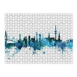 artboxONE Ravensburger-Puzzle L (500 Teile) Städte / Hamburg Hamburg Germany Skyline Blue