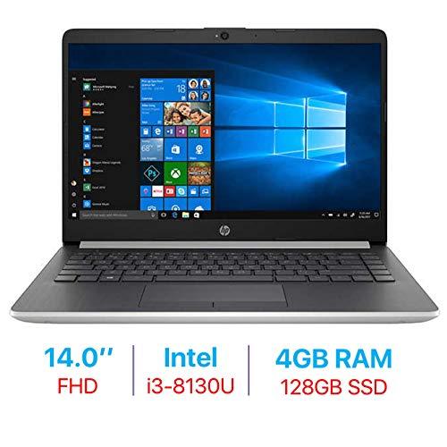 2019 HP 14-inch FHD (1920x1080) IPS Laptop PC (Intel Core i3-8130U Up to 3.4GHz Processor, 802.11 ac WiFi, Bluetooth, Webcam, USB 3.1 Type-C, HDMI, Windows 10, 4GB DDR4 RAM 128GB SSD