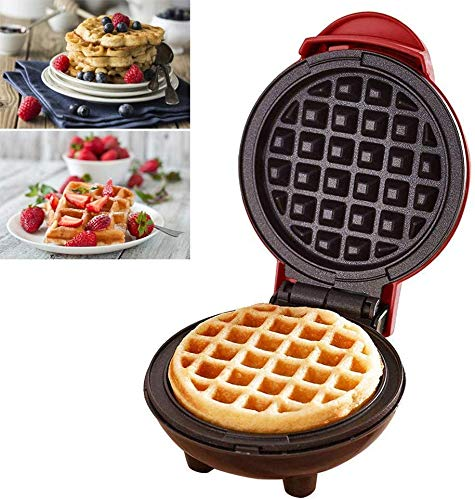 LIBOYUJU Mini-Waffeleisen, elektrischer Pfannkuchenhersteller, Antihaftpfanne, Tiefe Kochplatte, Kleiner Waffeleisen, geeignet für Kinder, sterben Kekse, Pfannkuchen, Eier Machen