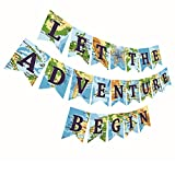 Gyzone Let The Adventure Begin Banner, Travel Themed Party Decorations for Retirement | Baby | Shower | Bridal | Shower | Job Change Farewell Career Change Party Supplies