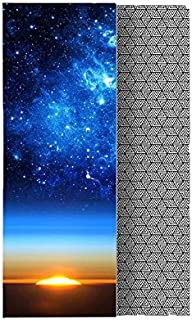 Whatsko Yoga Mat Towel,Non-slip,Extra-Thick,Extra-Wide,Ultra Absorbent,Hot/Bikram yoga sports fitness blanket printing tow...
