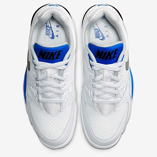 Nike Air Cross Trainer 3 Low, Sneaker Hombre, Blanco/Lt Smoke Grey-Racer Blue-Negro, 45 EU