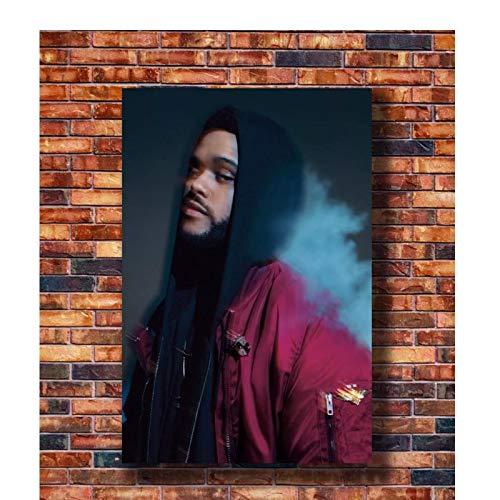 KONGQTE The Weeknd Trilogy Rap Music Star Art Poster Canvas Painting Home Decor Poster ad Alta Definizione Soggiorno -20x30 Pollici Senza Cornice