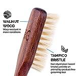 ZEUS Vegan Handle Beard Brush, Natural Plant Fiber Tampico Bristles and Walnut Handle, Made in Germany, FIRM - J73 4