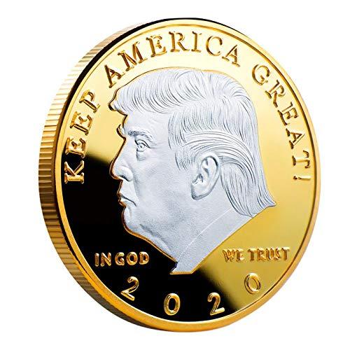 Regalo conmemorativo del coleccionista de Monedas conmemorativas Eagle Plateado del Presidente de los Estados Unidos, Donald Trump, Donald J Trump (Donald J Trump) 2020# 8