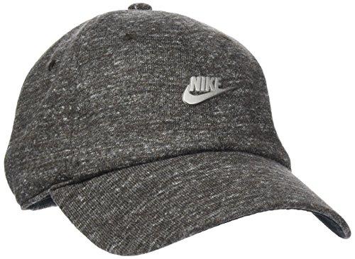 Nike Sportswear Heritage 86 Metal Futura Kappe, Black Heather/Black/(Matte Silver), One Size