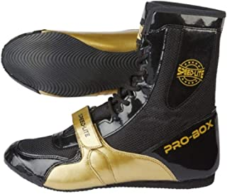 Pro Box Speed Lite Junior Boxing Boots Kids Sparring Trainers - Black/Gold