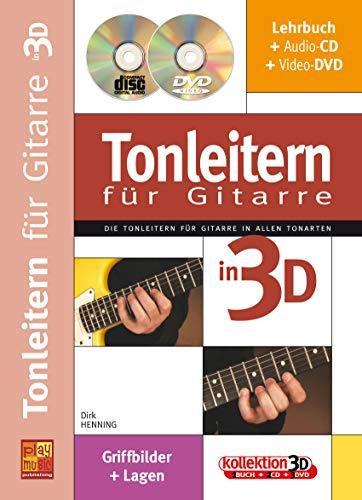 Tonleitern für Gitarre in 3D (1 Buch + 1 CD + 1 DVD)