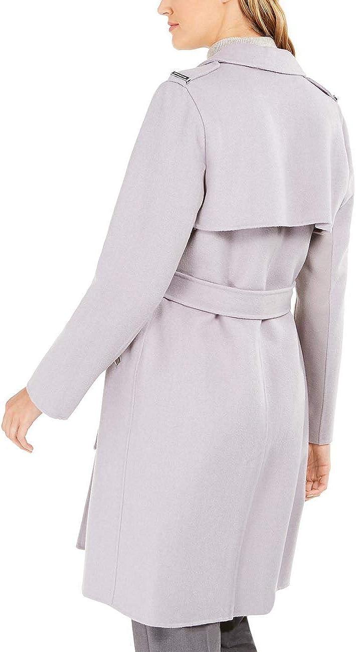 HAHAEMMA Damen Maxi Offene Cardigan Strickjacke Asymmetrisch Strickmantel Mantel mit Tasche Fleece Mantel Winter Frühling Reverskragen Lang Umstandsbekleidung Jacke B-grau