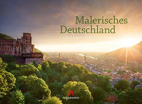 Malerisches Deutschland 2019, Wandkalender im Querformat (45x33 cm) - Landschaftskalender / Naturkalender / Sehenswürdigkeiten mit Monatskalendarium