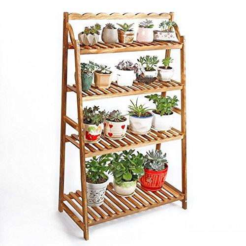 Balustrade en bois massif Balcon Salon Ensemble de sol Ensemble polyvalent Arbre à fleurs 4 couches L * H: 70 * 115cm