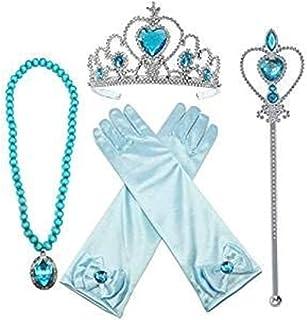 SKEIDO Cosplay Crown Tiara Hair Accessory Crown Wig +Magic Wand For Elsa